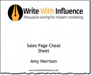 Sales page cheat sheet