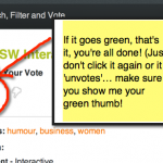 Let me make them laugh! How to vote for a SXSW Proposal (step-by-step)