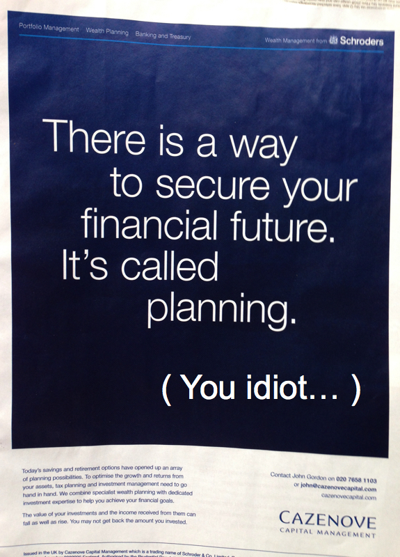 tax planning you idiot